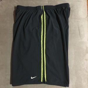 Nike gray shorts.